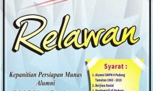Rekrutmen relawan Munas alumni SMPN 4 Padang