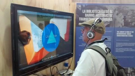 Espacio interactivo de la Biblioteca Urbana Medellín en el #WUF7