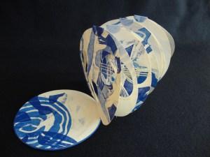 """Albertina Tafolla, proyecto """"Lunas azules"""", Libro de Artista (2014)"""