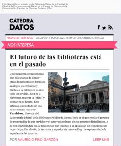Newsletter #37 - Cátedra de Datos