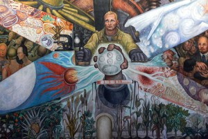 'El hombre en el cruce de caminos' (detalle), 1934. Diego Rivera