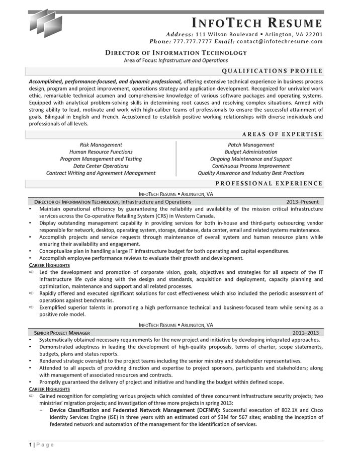 information technology director resume hitecauto - director of it resume