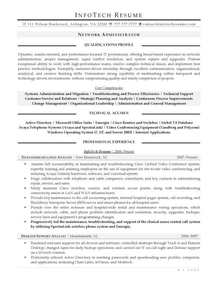 ccna resume sample - Siebel Administration Sample Resume