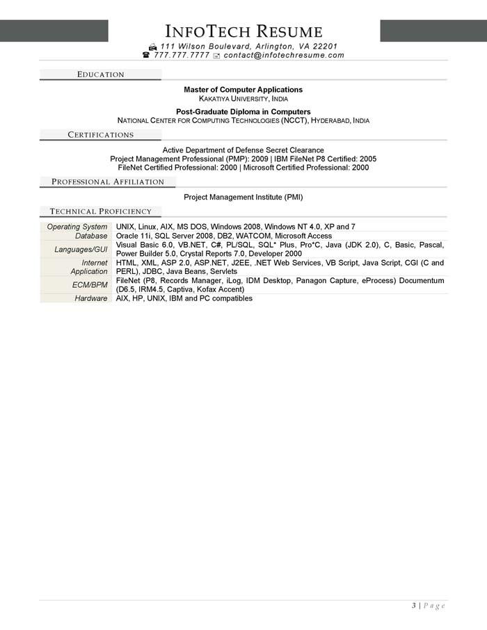 filenet consultant resume