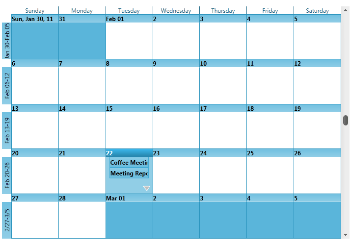 Schedule Calendar Wpf Wpf Calendar View Schedule Control Scheduler Month View Single Calendar Schedule Wpf