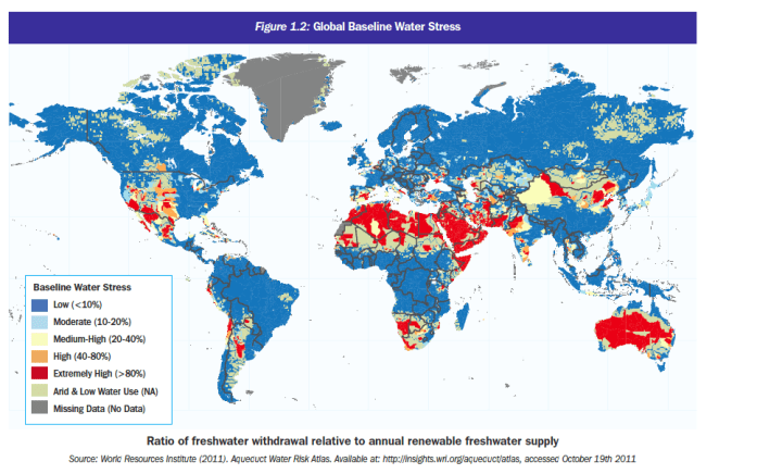 Figure 1.2: Global Baseline Water Stress