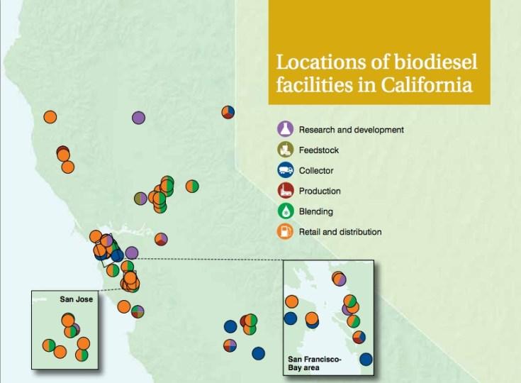 BioDiesel Facilities in California