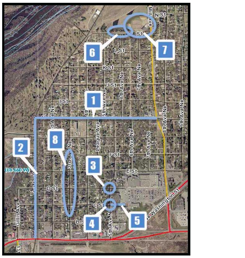 Northeast Brainerd, MN: Project Location Map