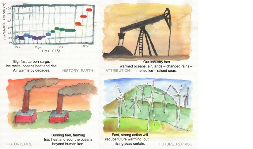 Greg Johnson: 19 Climate Change Watercolors and Haiku