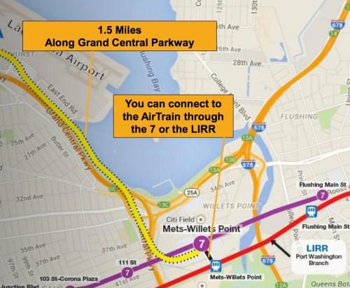 LaGuardia AirTran Route: Courtesy of NY.gov