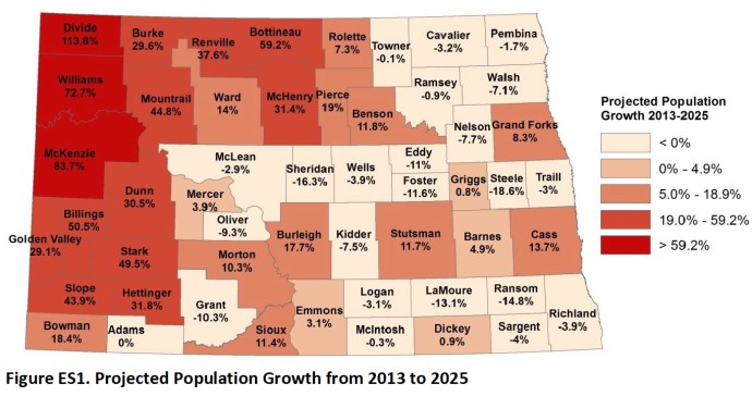 Figure ES1. Projected Population Growth from 2013 to 2025