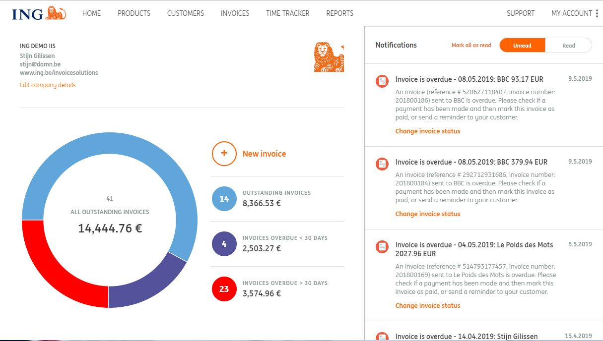 Online invoicing software for freelancers and SME\u0027s ING Belgium