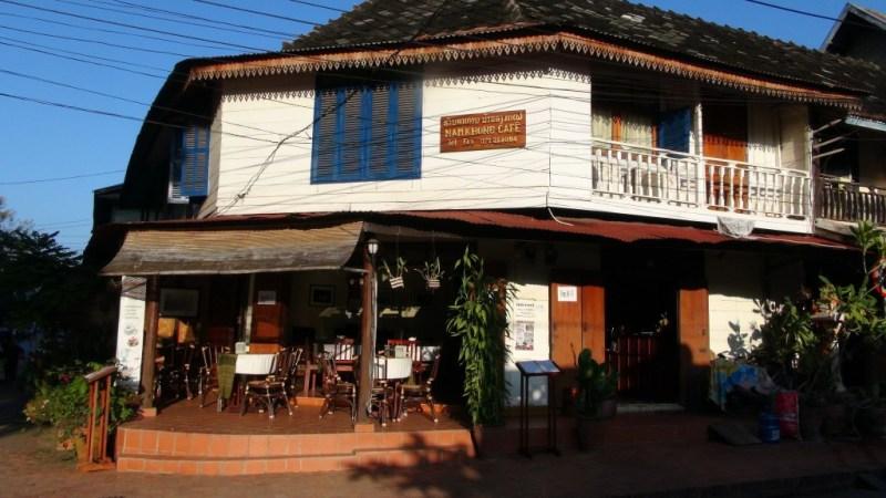 Hyggelig restaurant i Luang Prabang