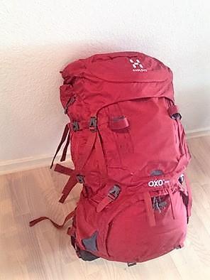 en af vores 60 liters rygsække fra Häglöfs