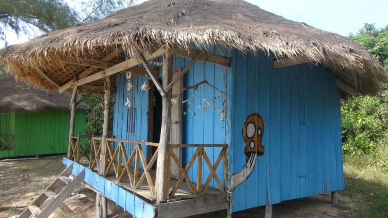 Forladt bungalow, Cambodia
