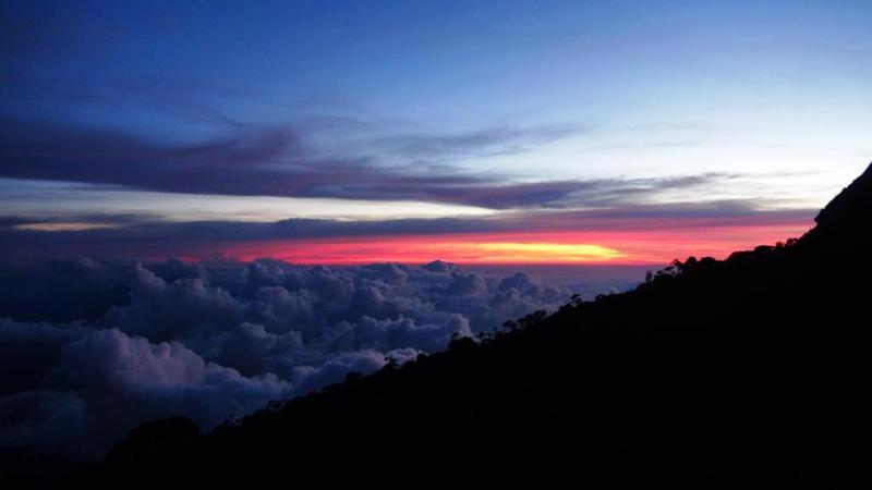 climb, climbing, mountain kinabalu, Mt. Kinabalu, Laban Rata, Borneo, Malaysia, sunset