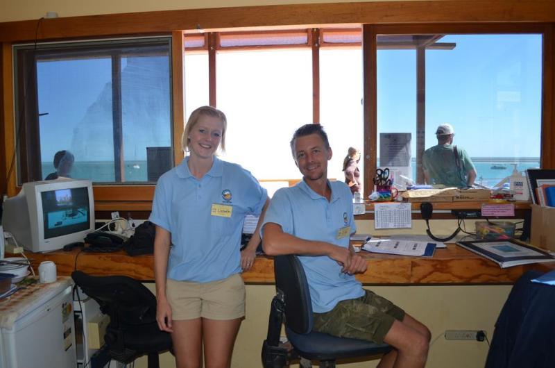Første dag på vores frivillige arbejde.