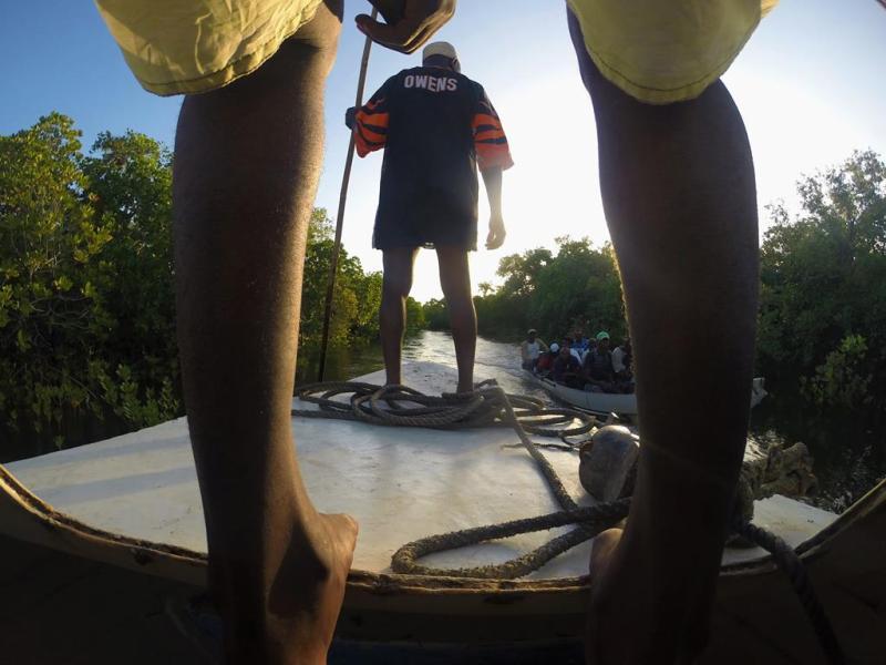 Eriks udsigt fra båden