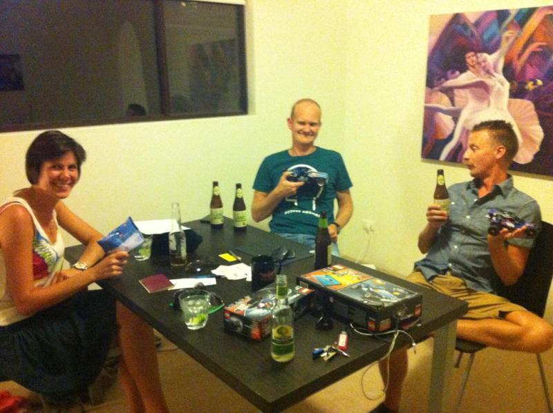 Billede fra sidst på aftenen - nu var vi begyndt at blive slemt kloge!