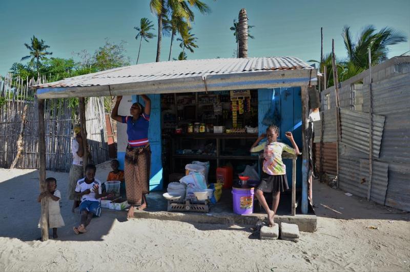 Den eneste butik vi så på øen