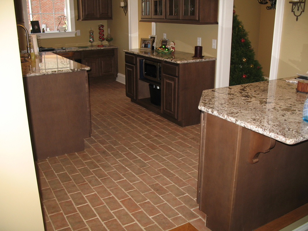 kitchens flooring for kitchen Boltinhouse Kitchen Wright s Ferry brick tile