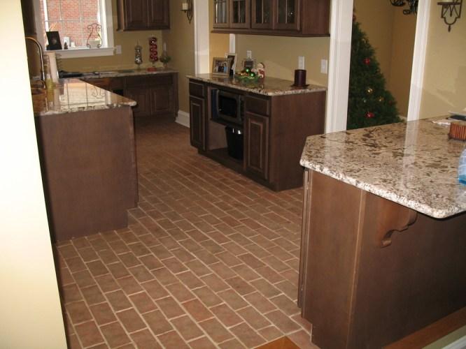 kitchens kitchen tile floor Boltinhouse Kitchen Wright s Ferry brick tile