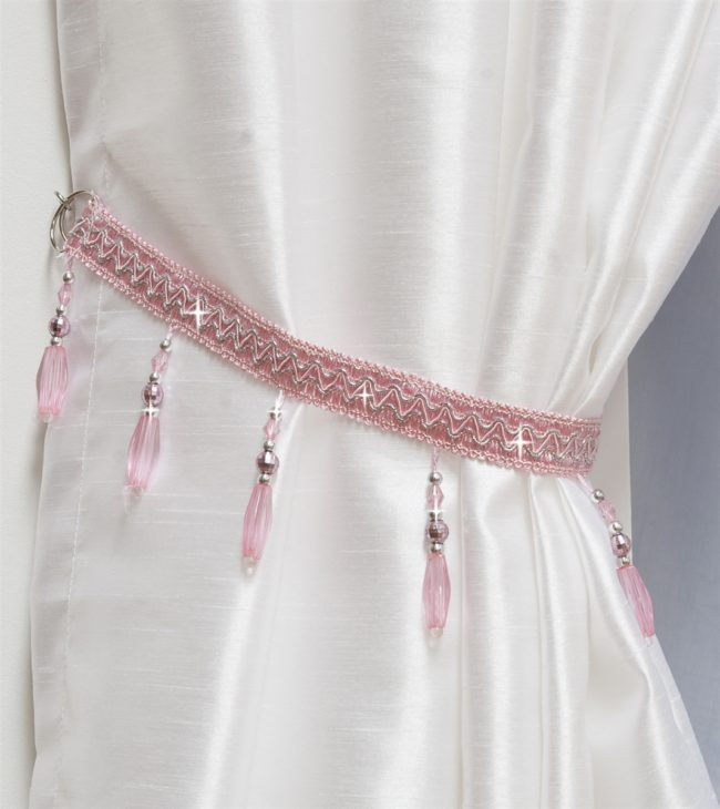 How To Make Curtain Tie Backs Inhabit Zone