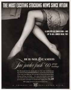 cameo-burlington-mills-nylon-stocking-advertisement-1951
