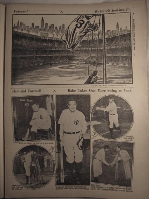 Babe Ruth's number retired at 25th anniversary of Yankee Stadium