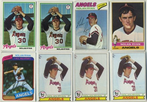 Lot of Nolan Ryan cards 1976-1980