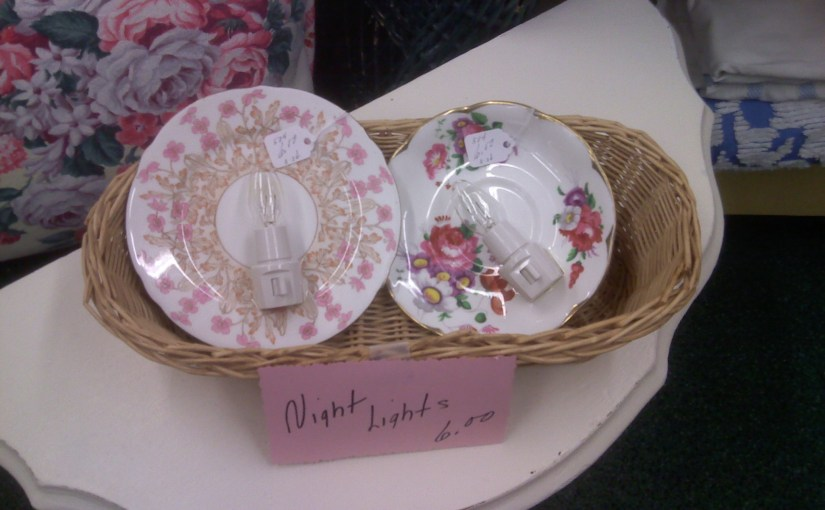 vintage china saucer nightlights
