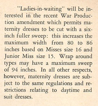 wartime wwii maternity and womens clothing rules