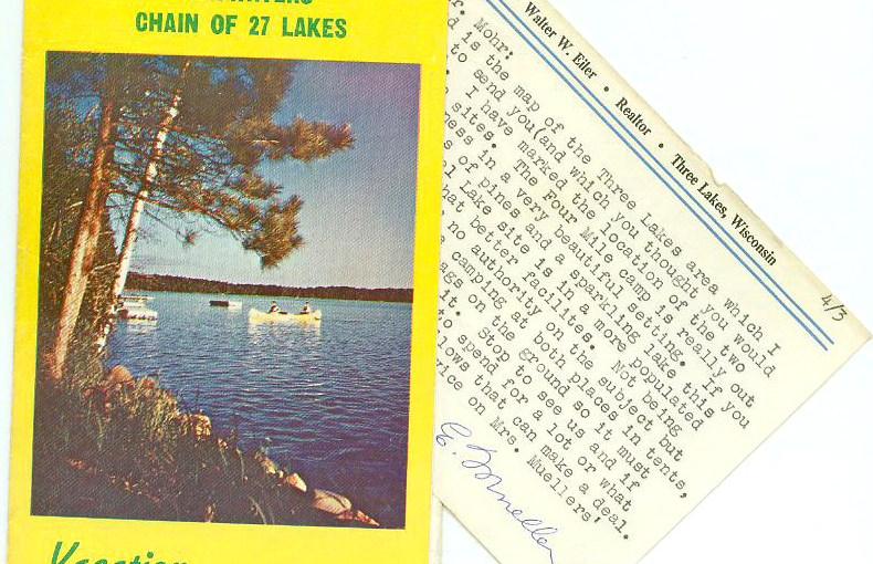Vintage Ephemera From Three Lakes, Wisconsin