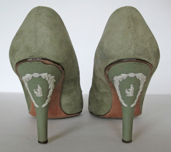 Vintage 50's 60's Wedgwood Jasperware Women's High Heels Shoes