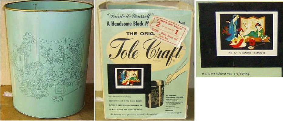 Vintage Paint By Number Metalware