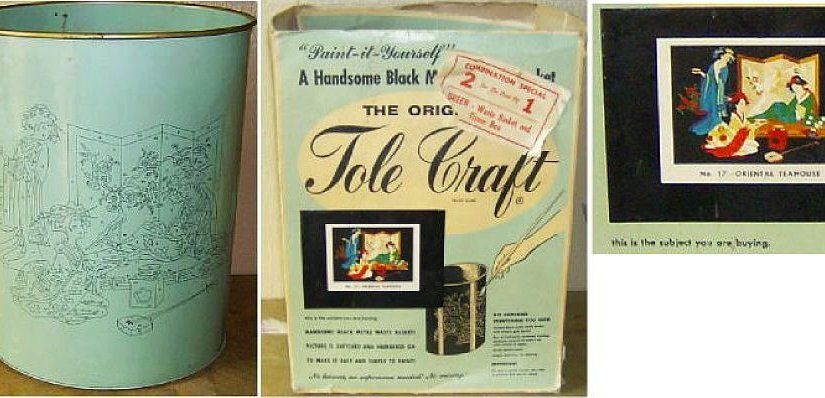 Vintage Tole Craft Paint It Yourself No 17 Oriental Teahouse