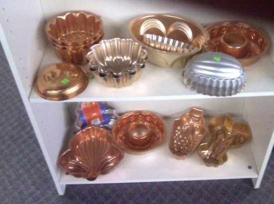 copper molds at thrift shop