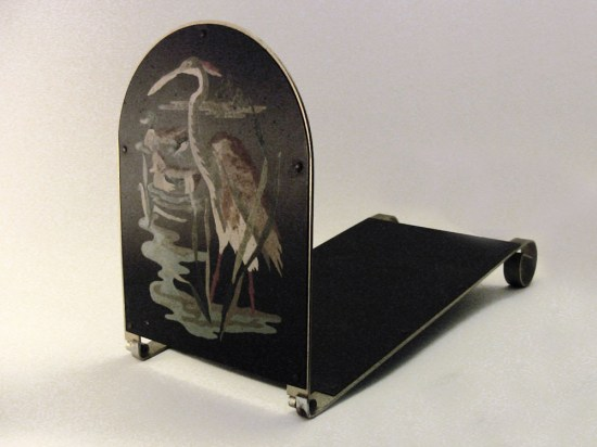 vintage paint by number bookend with heron and birds