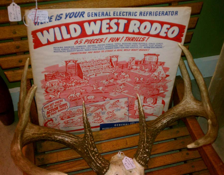 Vintage Wild West Rodeo Toy Thrills & Chills