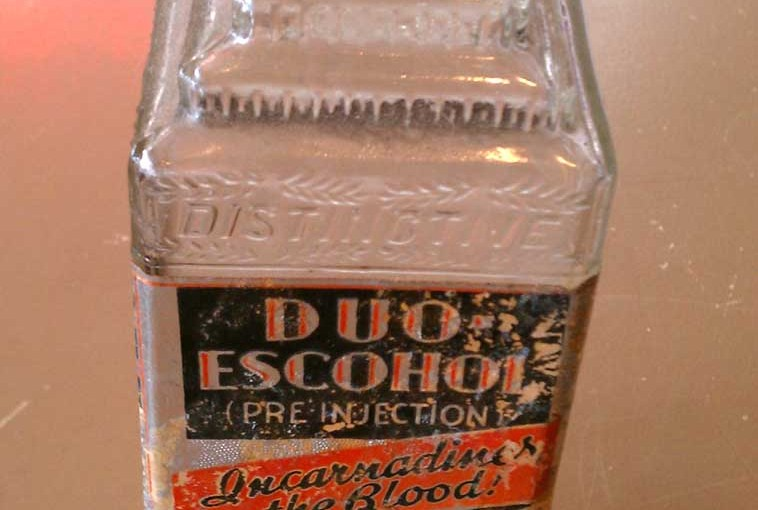 duo-escohol embalming fluid bottle