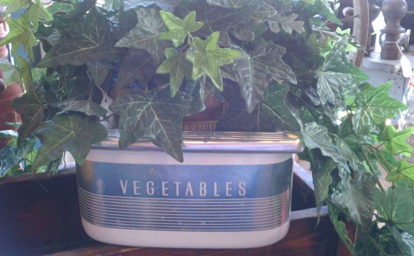vintage vegetable drawer planter