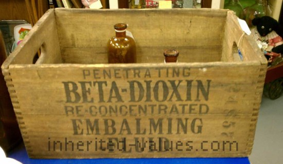 vintage embalming crate