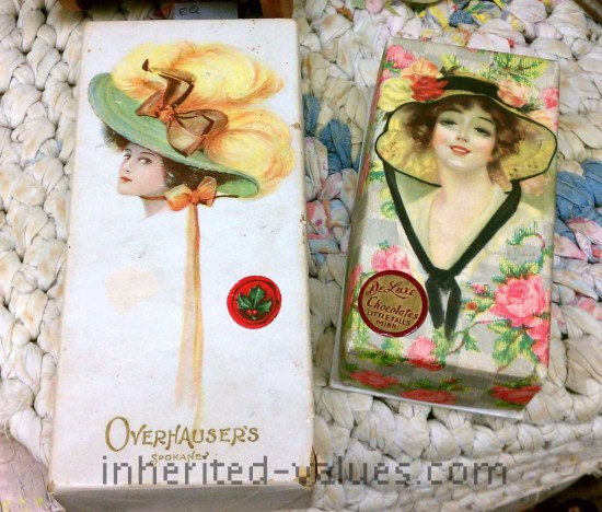 antique chocolate candy boxes