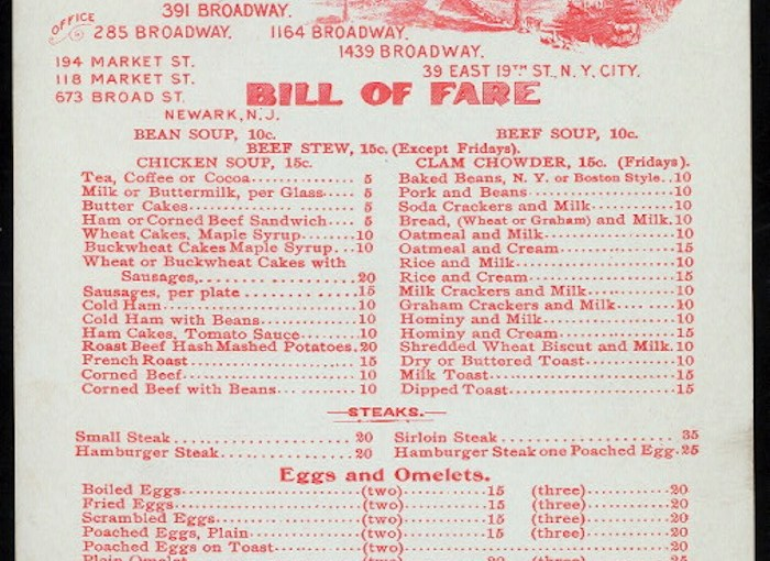 Collecting Vintage Restaurant Menus