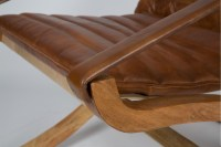 Tribeca Wood and Quilted Leather Chair