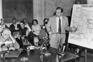 Welch (left) being questioned by McCarthy - 1954