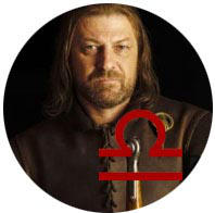Libra: Ned Stark-horoscopo-Mudo Nerd Info