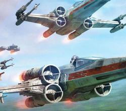 Jogo-de-miniaturas-Star-Wars-X-Wing-vitrine