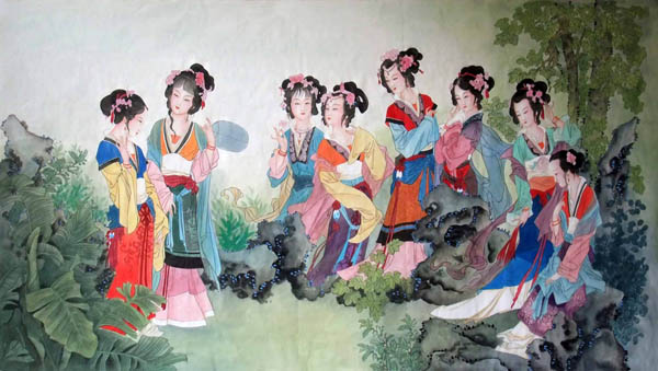 Free Animated Fireplace Wallpaper Chinese Dream Of The Red Chamber Beauties Amp Figures