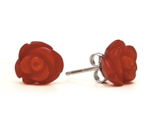 10-Red-Coral-Rose-Studs-by-RockLove-Jewelry